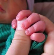Baby Nico's hand
